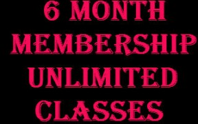 6 Month membership unlimited classes