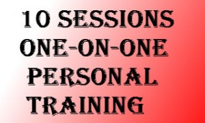 10 sessions (one-on-one personal training)